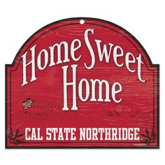 Cal State Northridge Matadors 10'' x 11'' Home Sweet Home Tier Wood Sign