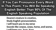 90% Of People Can't Pronounce This Whole Poem. You Have To Try It.