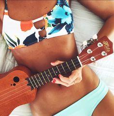 Hibiscus Honey Mau Loa Top - Midori Bikinis LLC - 1