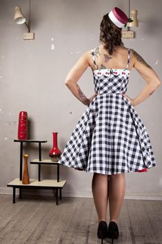 vintage inspired cherry dress by ticci rockabilly clothing
