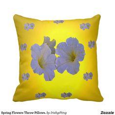Spring Flowers Throw Pillows. Throw Cushions