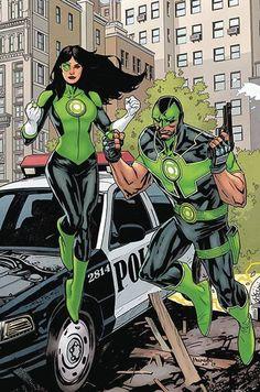 Green Lanterns Jessica Cruz and Simon Baz by Yanick Paquette
