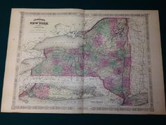 1867 Johnson's Antique Map of New York  Long Island by Maptiques