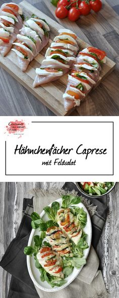 Chicken fan Caprese and my experiences with HEISO recipe . , Chicken fan Caprese and my experience with HEISO recipes No Calorie Foods, Low Calorie Recipes, Healthy Recipes, Healthy Food, Poulet Caprese, Caprese Chicken, Grilling Recipes, Cooking Recipes, Comidas Light