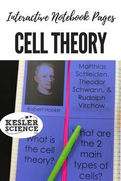Study the cell theory and how cells were discovered. Foldable includes famous scientists such as Hooke, Schleiden, Schwann, and Virchow. Turn science notebooks into a fun, interactive, hands-on learning experience for your upper elementary or middle school students! Grades 4th 5th 6th 7th 8th 9th 10th