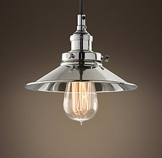 RH's 20Th C. Factory Filament Metal Shade
