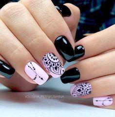 nail designs hansen chrome nail makeup nail art nailart nail art designs inc nail makeup inc nail makeup inc nail makeup harley gardens makeup design Dark Color Nails, Dark Nails, Nail Colors, Dark Nail Art, New Nail Art Design, Cool Nail Designs, Salon Design, Pretty Nails, Fun Nails