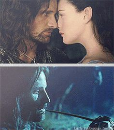 Aragorn and Arwen❤ Aragorn And Arwen, Legolas, O Hobbit, The Hobbit Movies, Viggo Mortensen Aragorn, Lotr Cast, Popular Book Series, Fiction Movies, Great Love Stories