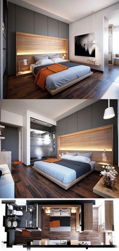 refreshing design ideas for the master bedroom for renovation or construction Master bathroom bedroom suite Visualizer: Omar Essam Modern Bedroom Design, Master Bedroom Design, Home Decor Bedroom, Interior Design Living Room, Master Bathroom, Bedroom Ideas, Master Bedrooms, Bathroom Small, Bedroom Designs
