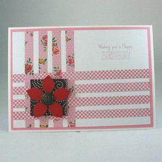 Handmade birthday card with woven panel £2.00