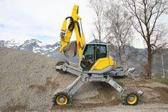 Spider excavators