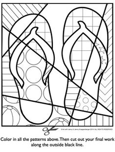 Summer Activities Free - Interactive Coloring Sheet -also great for end of the year activities. holiday activities summer Pop Art Interactive Flip Flops - Great End of the Year Activity - FREE! Teaching Colors, Teaching Art, Pop Art For Kids, Classe D'art, End Of Year Activities, Interactive Activities, Summer Activities For Preschoolers, Summer School Activities, Preschool Activities
