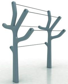 Most gorgeous clothesline ever! would do it in a natural wood tone