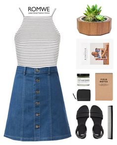 """""""Romwe Skirt"""" by hiddlescat ❤ liked on Polyvore featuring ASOS, Dot & Bo, Topshop, T3, Fig+Yarrow and Monki"""