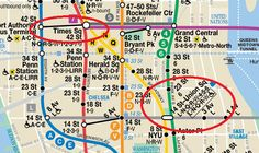NYC Subway Map - Transfers