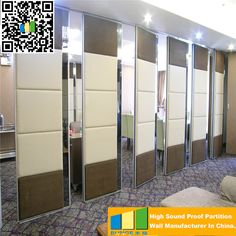 Ceiling Suspended Accordion Wall Soundproof Retractable Room Dividers