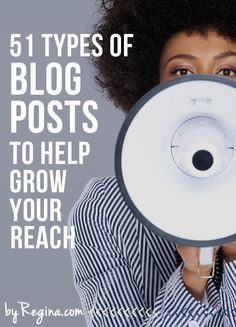 If you're at a loss for what to blog about, or what types of posts you can create, try this list of: 51 Types of Blog Posts to Help Grow Your Audience. #blogger