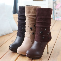 new stylish winter high quality lady casual boots,bleak orange brown high heel boots,free shipping YMR1219-in Boots from Shoes on Aliexpress.com