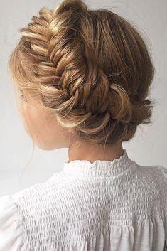 33 Overwhelming Boho Wedding Hairstyles ❤️ boho wedding airstyles braided crown nstarck ❤️ See more: http://www.weddingforward.com/boho-wedding-hairstyles/ #weddingforward #wedding #bride #hairstyles #weddinghairstyles