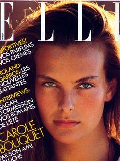 Young Carole Bouquet (1107×1493) #cover #elle