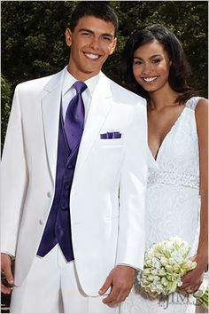 Stephen Geoffrey Troy Tuxedo- Rental from Jim's Formalwear- classic white tuxedo for your groom and wedding party!