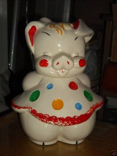 American Bisque On Pinterest Cookie Jars Pigs And Polka