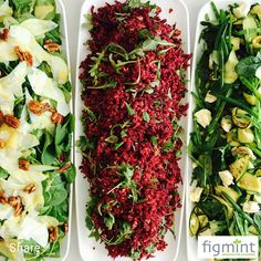 Sexy Summer Salads - which one would you choose? #salads #loveveges #healthyeats #nourishyourbody #foodforthesoul #figmintcatering #buffets #celebrations #entertainingwithfigmint #sydneycaterer #parties #events