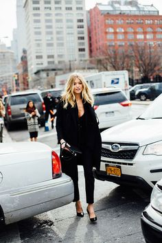 "vicsecret-angels: "" Martha Hunt | New York Fashion Week Street Style """