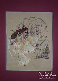 """Butternut Road cross stitch pattern by Marilyn Leavitt-Imblum entitled """"Earthdancer"""""""