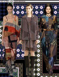 F2015 TREND..                                   Mixed Menswear Prints..