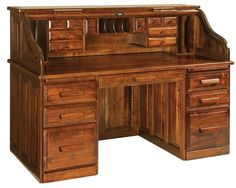Roll top desks are a timeless, heirloom investment for your family. Design a one of a kind Educator's Roll Top Desk with Countryside Amish Furniture located in Arthur, IL.