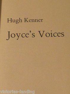 1st Ed JOYCE'S VOICES by Hugh Kenner 1978 HB JAMES JOYCE