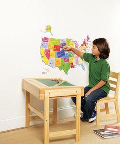 Look at this #zulilyfind! U.S. State Map Wall Play Decal Set #zulilyfinds