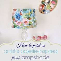 How to paint a lamp shade with acrylic paints inspired by an artist's impressionistic painting.Inspired by the water color trend, This is a step by step tutorial .