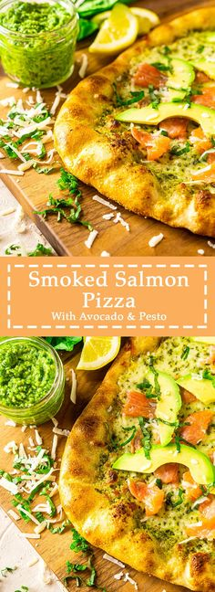 Looking for unique pizza ideas? You'll love this smoked salmon pizza recipe with avocado and pesto! This easy pesto pizza recipe is sure to be everyone's new favorite. #smokedsalmonpizza #uniquepizza #salmonpizza #uniquepizzarecipes #avocadopizza #pestopizza Avocado Pizza, Avocado Pesto, Pesto Pizza, Salmon Avocado, Pizza Pizza, Good Pizza, Pizza Recipes, Gourmet Recipes, Beef Recipes