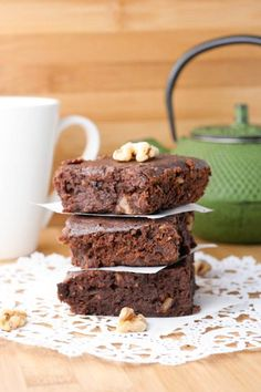 Coconut Black Bean Brownies | I used 1/4 c cocoa powder and 1/4 coconut oil and…