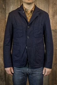 Engineered Garments Bedford Jacket Navy Melton Wool.  I like the collar.