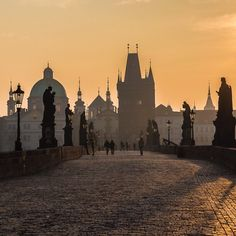 Early morning snapshot of Prague's Charles Bridge, courtesy of tiaraanggamulia on Instagram.