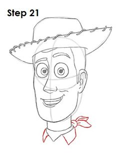 Mar 2016 - Learn how to draw Woody from Disney•Pixar's Toy Story with this step-by-step tutorial and video. A new cartoon drawing tutorial is uploaded every week, so stay tooned! Disney Drawings Sketches, Disney Character Drawings, Cute Disney Drawings, Drawing Cartoon Characters, Cartoon Sketches, Cute Drawings, Drawing Sketches, Character Art, Drawing Disney