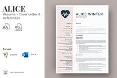 Registered Nurse Resume, Cover Letter and References. Nursing Resume CV in Resume Templates on Yellow Images Creative Store Nursing Resume Template, Resume Design Template, Creative Resume Templates, Cv Template, Cover Letter Format, Cover Letter For Resume, Cover Letter Template, Resume Words, Resume Cv
