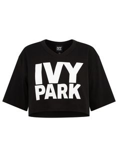 IVY PARK oversized cropped tee | Shop Beyoncé's IVY PARK at Fashercise now