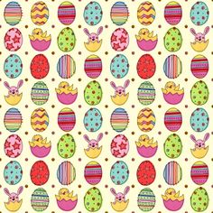 EASTER CHICK PATTERN | Four times the Happy Easter Eggs fun!