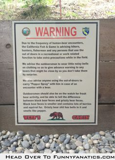 So this sign is outside our cabin.. (Read until the end)