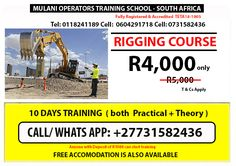 FREE TRANSPORTATION TO OUR OFFICE DURING LOCKDOWN HURRY!Get up to 40%OFF this includes a FREE Forklift training when you register 2 machines and more at affordable prices Email us : Mulanioperators@yahoo.com | call us / WhatsApp: +27731582436 Tel: 0118241189 #Mining #Training #School MULANI TRAINING MAY INTAKE IN PROGRESS, LIMITED TRAINING SPACE FREE TRANSPORTATION TO OUR OFFICE DURING LOCKDOWN EXCAVATOR, TLB, GRADER, BULLDOZER, FRONT END LOADER Training School, Transportation, How To Apply, Space, Free, Display