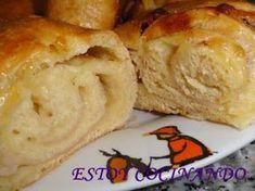 ESTOY COCINANDO: ROSCA DE JAMÓN Y QUESO PANIFICADORA Pan Relleno, Empanadas, Lidl, Picnic, Cheese, Meals, Ethnic Recipes, Desserts, Food