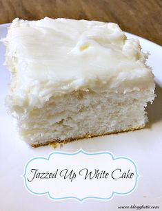 I used a boxed white cake mix and jazzed that baby up. One bite and you could no… I used a boxed white cake mix and jazzed that baby up. One bite and you could not tell it was from a box, seriously. Cake Mix Desserts, Just Desserts, Dessert Recipes, French Desserts, Baking Desserts, Keto Desserts, Health Desserts, Bakery Cakes, Food Cakes