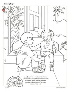 lds primary coloring pages activity from the friend september 1994 here - Coloring Pages Primary Lessons