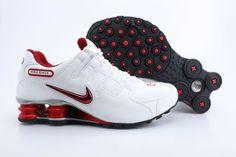 Mens Shox NZ Nike Shoes White Red