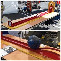 Rent our fun Roller Bowler Carnival Game for your party, fundraiser or other event!  Comes with an 8 ft Wood Rectangular Banquet Table to set up the game on.  www.bigblueskyparty.com