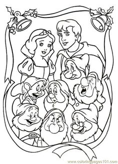 Snow White and The Seven Dwarfs is a Disney movie. It's the first full length Disney movie ever made, and the first full length t. Princess Coloring Sheets, Disney Coloring Sheets, Disney Princess Coloring Pages, Disney Princess Colors, Disney Colors, Colouring Sheets, Snow White Coloring Pages, Fruit Coloring Pages, Christmas Coloring Pages